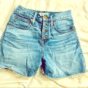 Madewell High Rise Button Jean Shorts